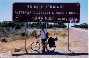 146.6km dead straight road in Oz